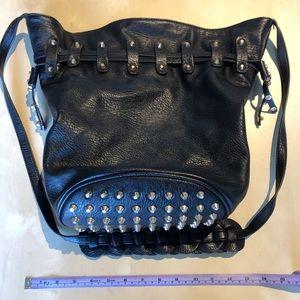3/$20 - Studded cross-body bucket bag